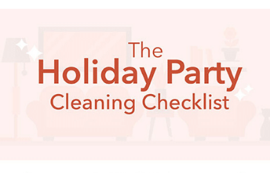The Holiday Cleaning Checklist Infographic by Chem-Dry