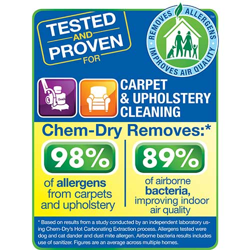 Specialty Stain Removal by Chem-Dry for even the toughest stains like wine, coffee and oil