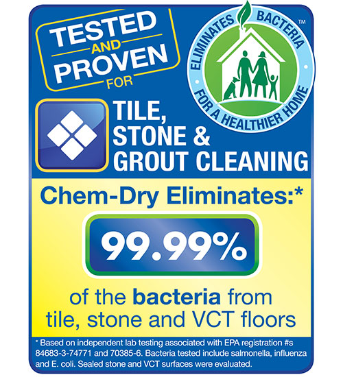 Tile, Stone and Grout Cleaning by Chem-Dry is tested and proven by independent labs