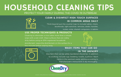 Home Cleaning & Disinfecting Tips During the COVID-19 Outbreak