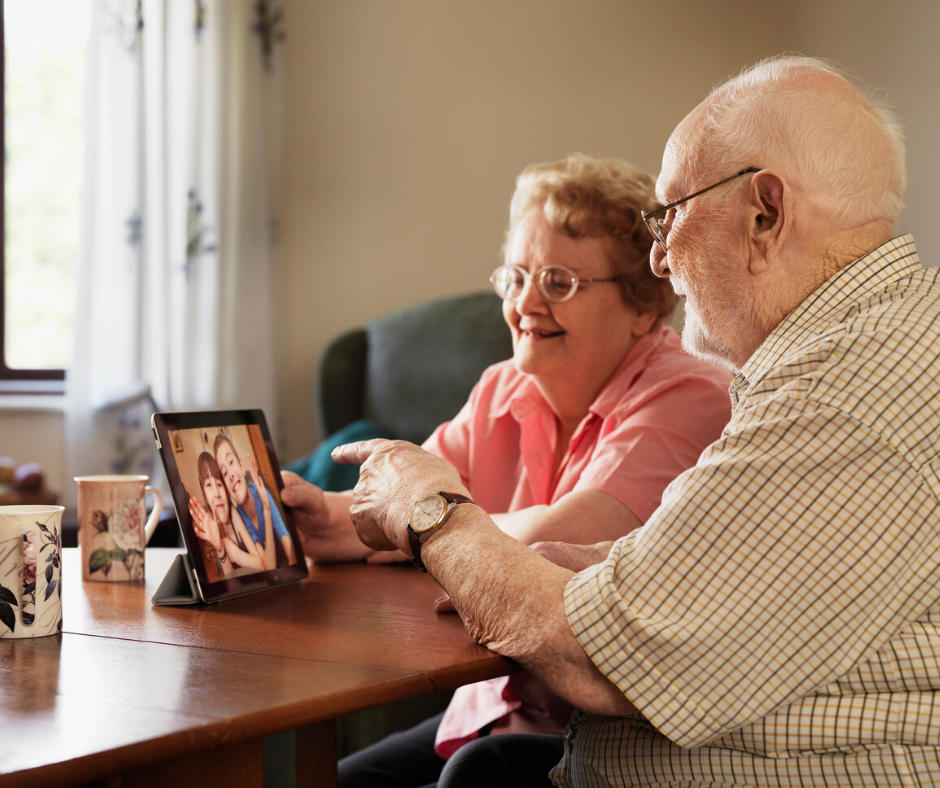 use technology to connect with loved ones