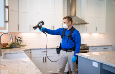 Chem-Dry technician performing a MicroPro Shield™ service
