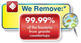 Chem-Dry tested and proven to remove 99.99% of viruses, bacteria and germs from Granite countertops