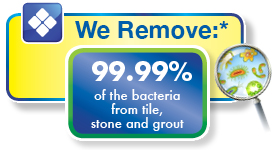 Tested and proven to eliminate bacteria from stone, tile & grout surfaces