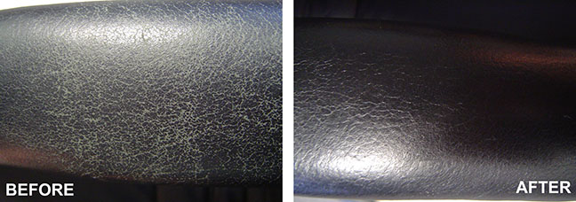 Chem-Dry Leather furniture cleaning before and after example