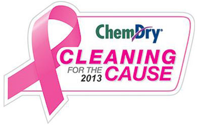 Chem-Dry Cleaning for the Cause supporting the Breast Cancer Foundation