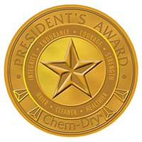 President's Award recognizes the best franchise operators in the Chem-Dry network